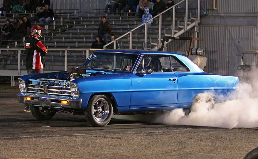 Photo of Acadian doing a burnout